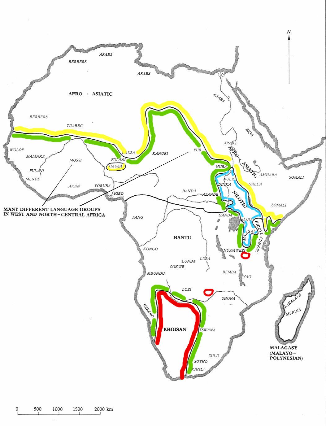Cameroon Mbouda - Cameroon language map