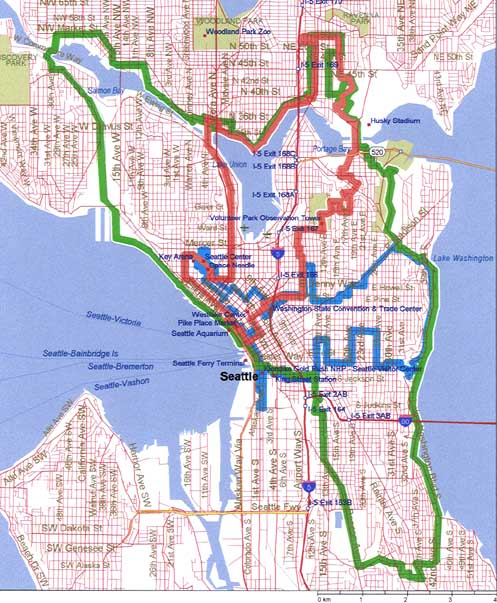 Seattle Bike Tours Map