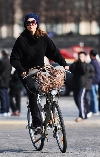 Jessica Alba bicycling