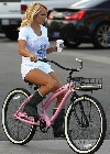 Pamela Anderson bicycling