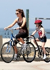 Kate Beckinsale bicycling