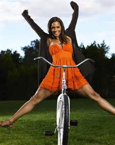 Halle Berry bicycles