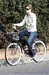Jessica Biel bicycling