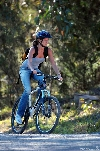 Gisele Bundchen bicycling