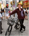 David Byrne bicycling