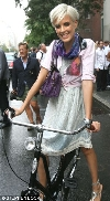 Agyness Deyn bicycling