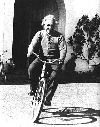 Albert Einstein bicycling