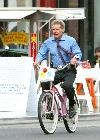 Harrison Ford bicycling