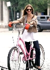 Sarah Michelle Gellar bicycling