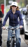 Geri Halliwell bicycling