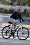 Goldie Hawn bicycling