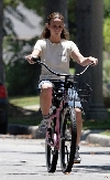 Jennifer Love Hewitt bicycling