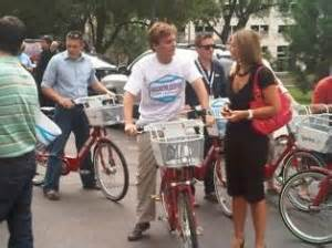 John Hickenlooper bicycling