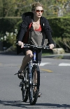 Kate Hudson bicycling