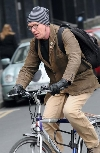 Steve Huison bicycling