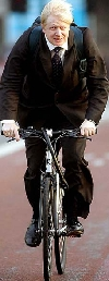 Boris Johnson bicycling