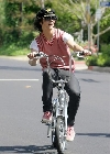 Joe Jonas bicycling