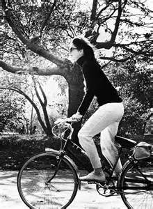 Jackie Kennedy bicycling