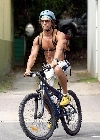 Matthew McConaughey bicycling