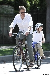 Eric McCormack bicycling