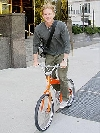 Matthew Modine bicycling