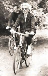 Marilyn Monroe bicycling