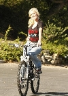 Heidi Montag bicycling