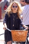 Mary Kate Olsen bicycling