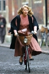 Gwyneth Paltrow bicycling