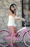 Katy Perry bicycling