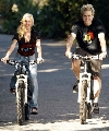 Spencer Pratt and Heidi Montag bicycling