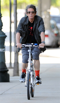 Lou Reed bicycling