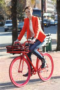Coco Rocha bicycle