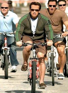 schwarzenegger bicycle Celebrities That Cycle