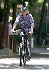 Owen Wilson bicycling