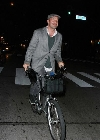Billy Zane bicycling