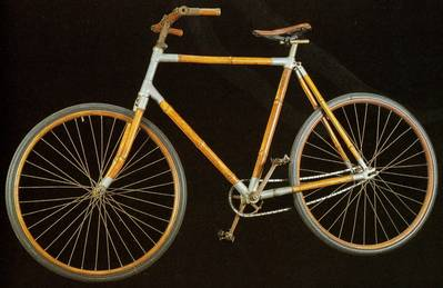 Bamboo bike from late 19th century.
