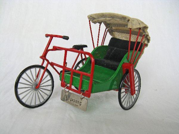 Trishaw model from Singapore.